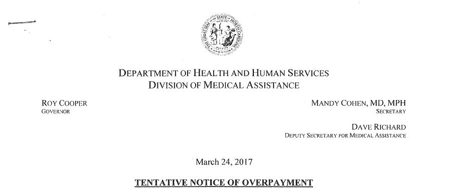 DHHS letterhead